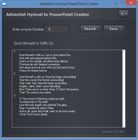 Adventist Hymnal PowerPoint Creator